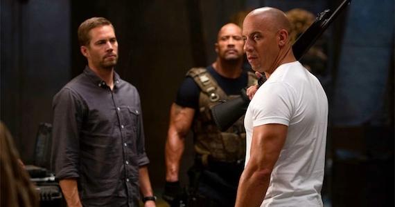 Paul Walker, Dwyane Johnson & Vin Diesel in Fast 6