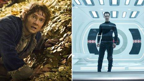 Freeman & Cumberbatch in Hobbit & Star Trek respectively