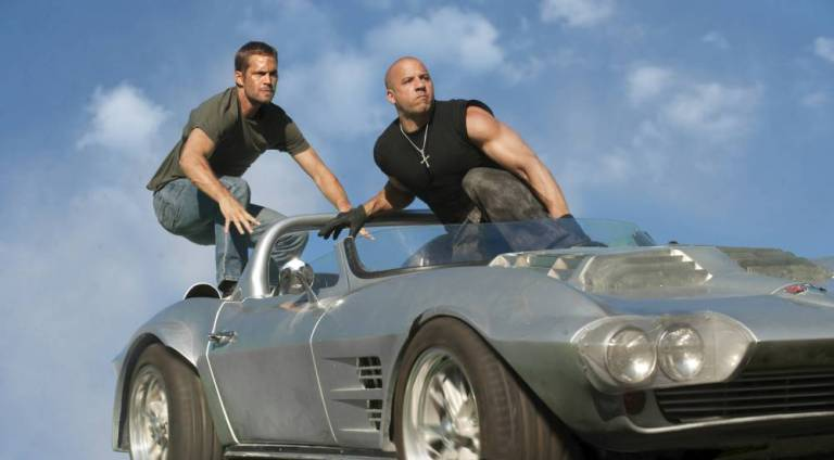 Late Paul Walker and Vin Diesel in Fast 5
