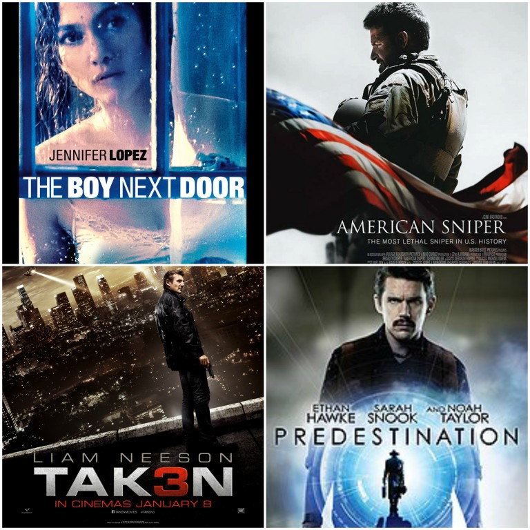 The Boy Next Door, Predestination, Taken 3, American Sniper
