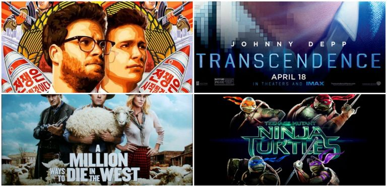 The Interview, Transcendence, A Million Ways To Die In The West & TMNT are some of the movies that made the Razzies' Shortlist